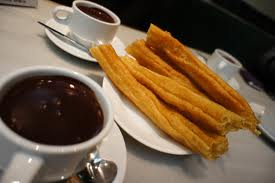 Chocolate con churros tomada de Google